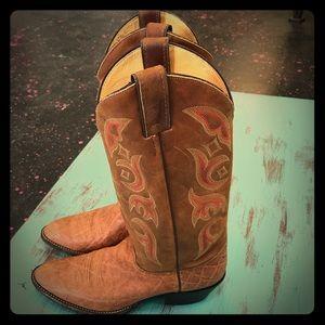 New Real Rare Elephant Justin Boots Mens 8 1/2 D